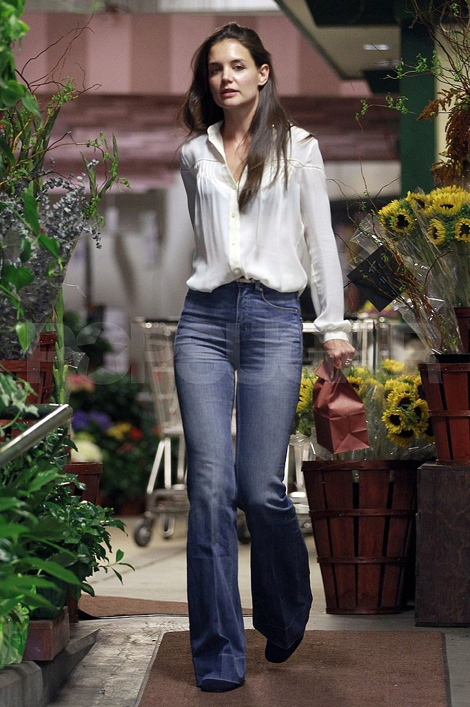 Katie Holmes on a retail outing.