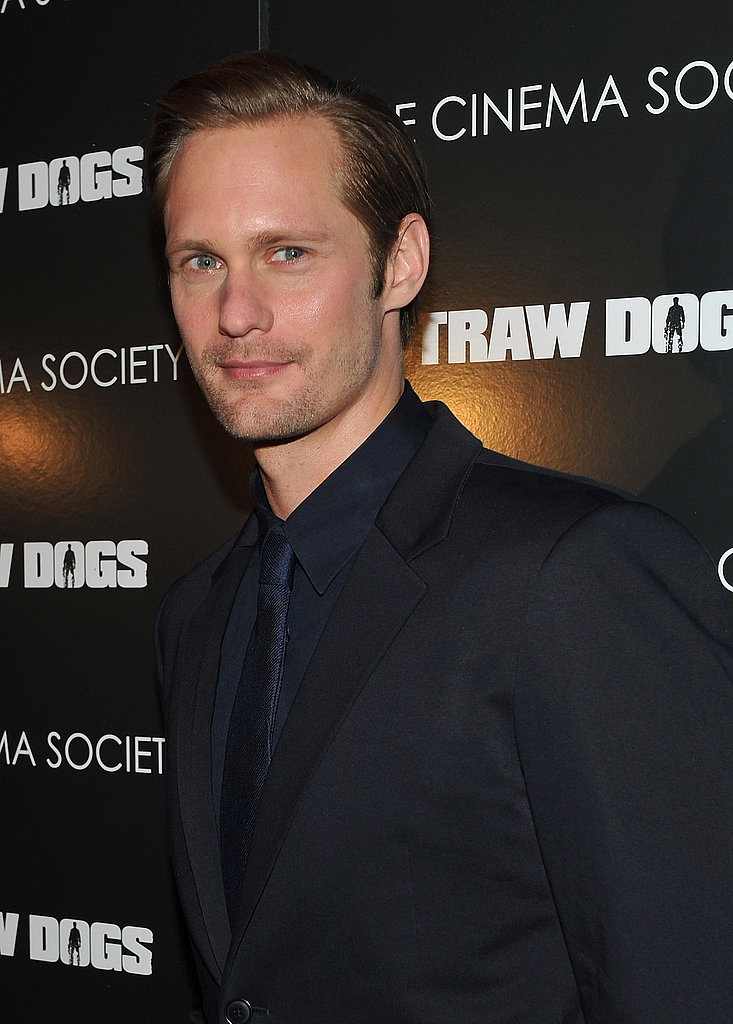 Alexander Skarsgard at his Straw Dogs premiere.