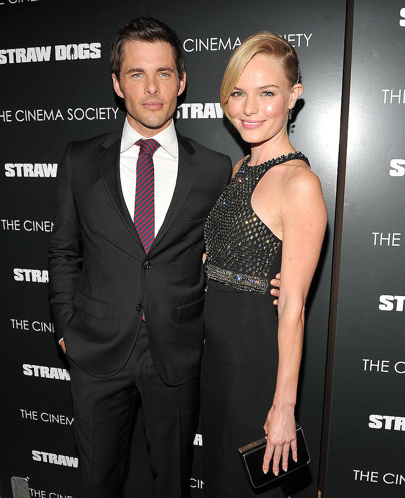 Kate Bosworth and James Marsden on the red carpet.