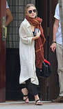 Mary-Kate Olsen leaves Greenwich Hotel.