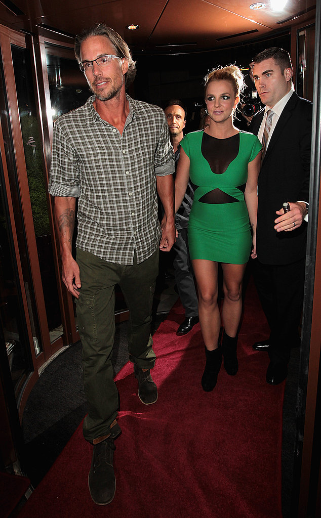 Britney Spears and Jason Trawick at her UK tour launch party.