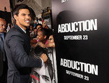 Abduction star Taylor Lautner signed autographs and took pictures with fans.