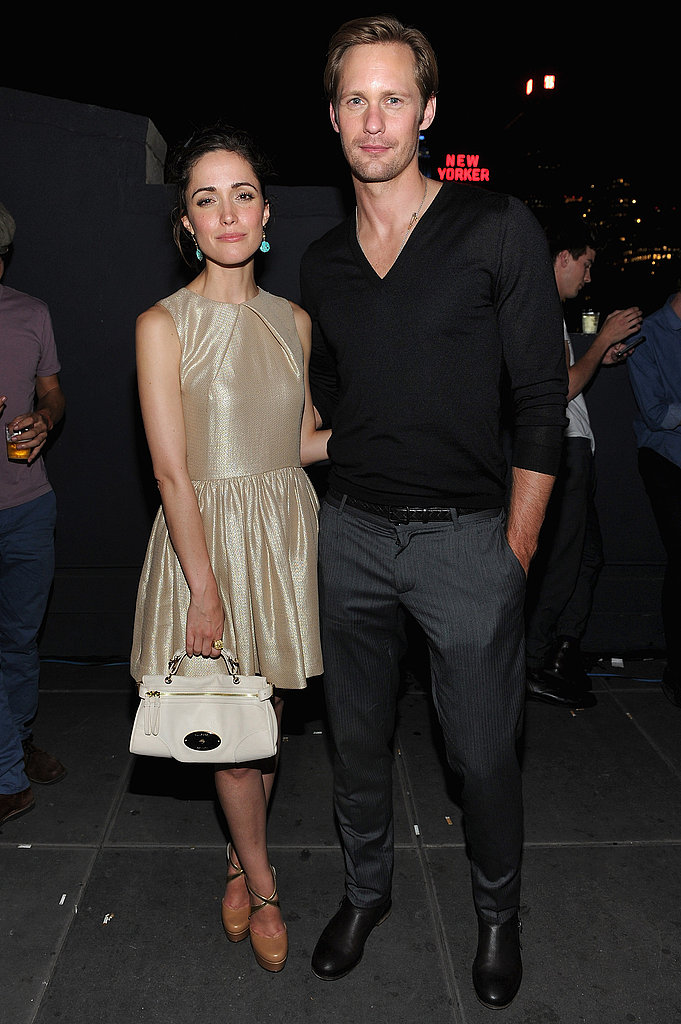 Alexander Skarsgard and Rose Byrne at the Mulberry party in NYC.