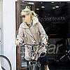 Celebrity Riding Bike in London in Vibram Five Fingers