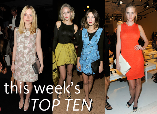 2012 S/S New York Fashion Week: Top Ten From the Front Row