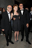 Scarlett, along with designers Dolce & Gabanna, stepped out in black for a fancy dinner.