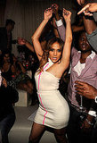 J Lo danced along to her own songs inside Pure nightclub.