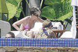 Nicole Richie and Samantha Ronson shared some bikini time in Cabo.