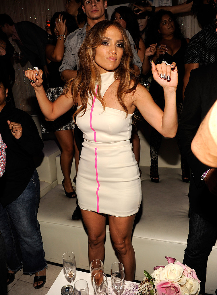 J Lo partied at Pure in Las Vegas.