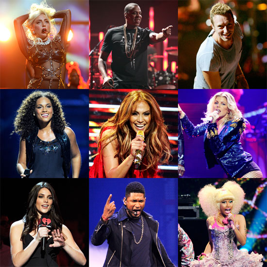 Las Vegas Hearts Jay-Z, Lady Gaga, Usher, Coldplay, and More!