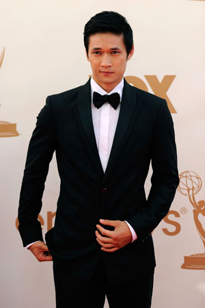 Harry Shum Jr. of Glee wore a classic black tux.