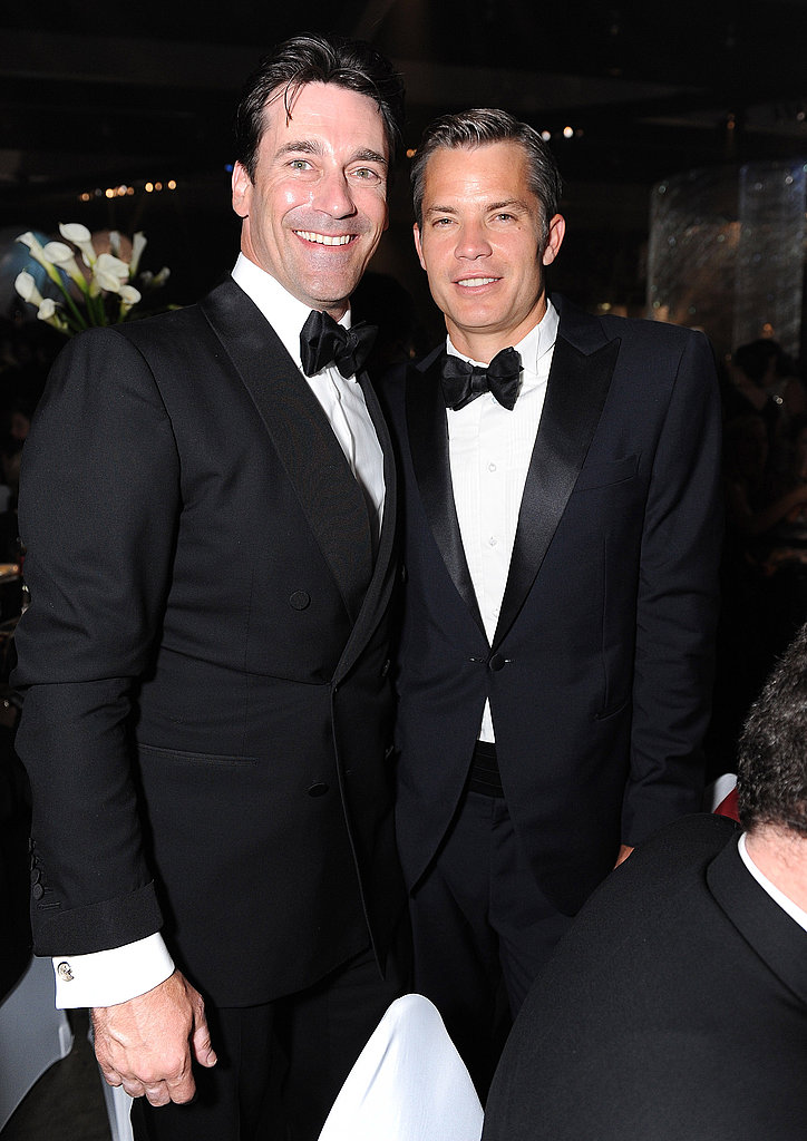 Jon Hamm and Timothy Olyphant at the Emmy's Governor's Ball.