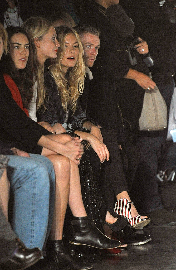 Sienna Miller at the Matthew Williamson London Fashion Week show.