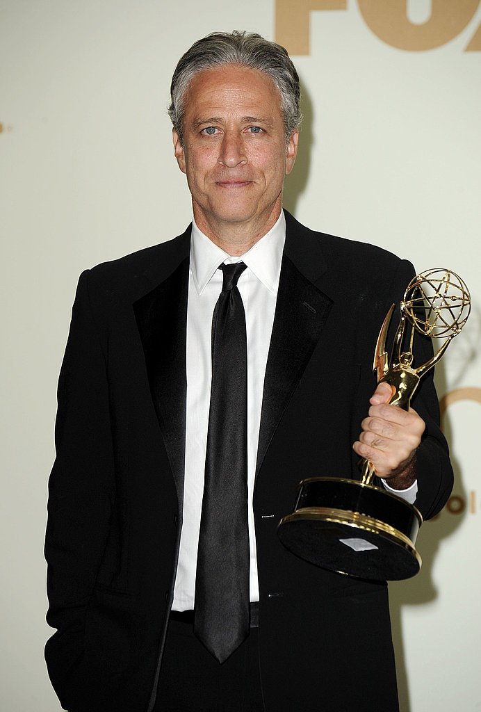 Jon Stewart with his Emmy in 2011.