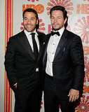 Jeremy Piven and Mark Wahlberg at the HBO afterparty.