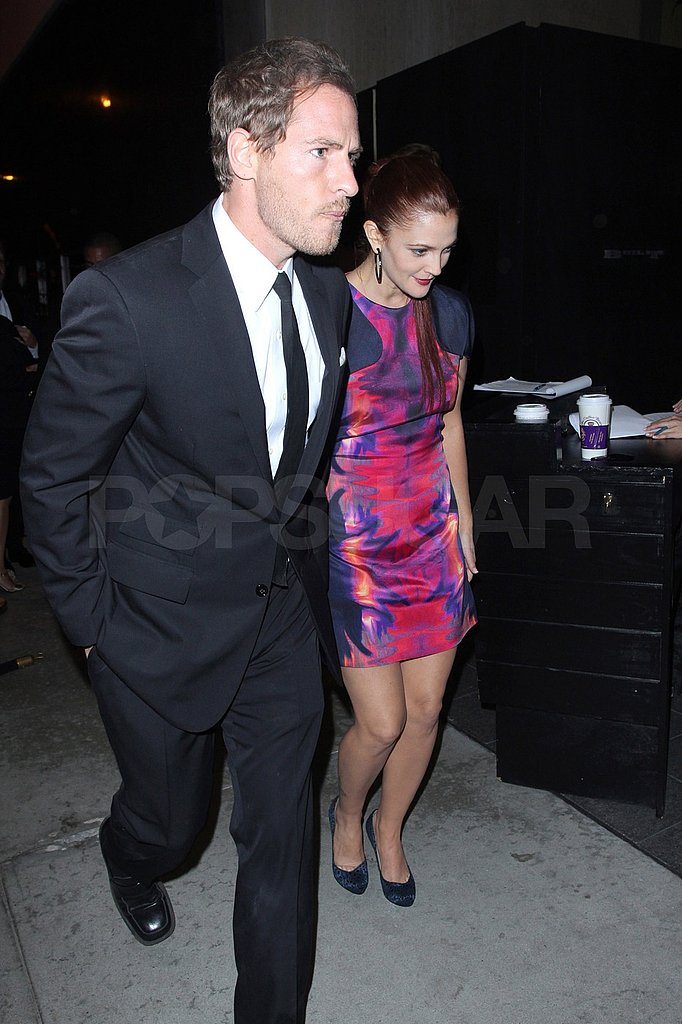 Will wore all black while Drew stepped out in a colorful mini dress.
