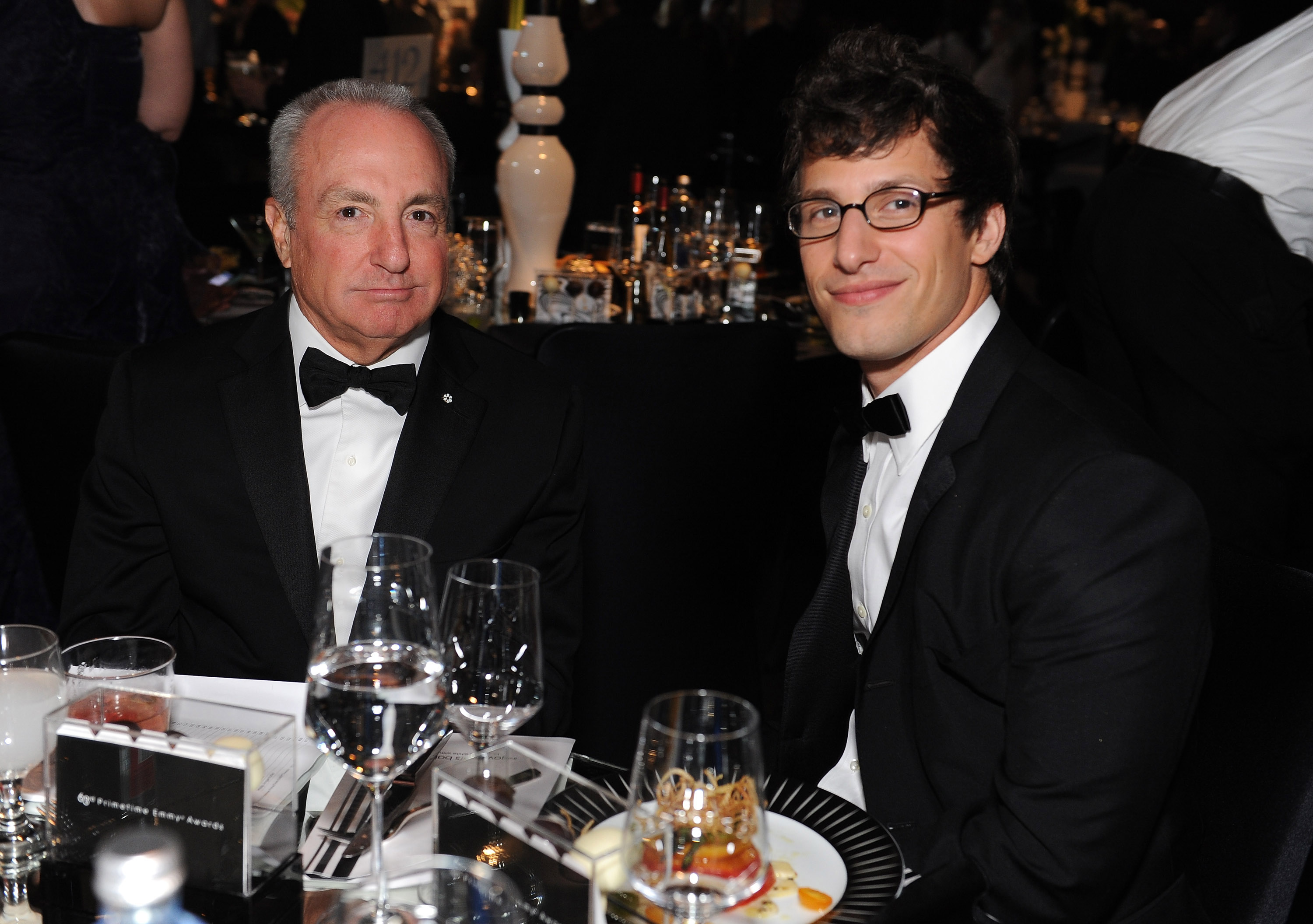 Lorne Michaels hangs out with Andy Samberg.