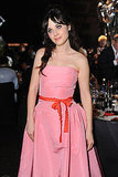 Zooey Deschanel at the Emmys Governor's Ball.