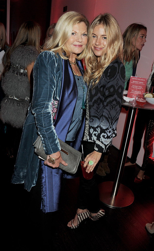 Sienna Miller and her mom Jo Miller.