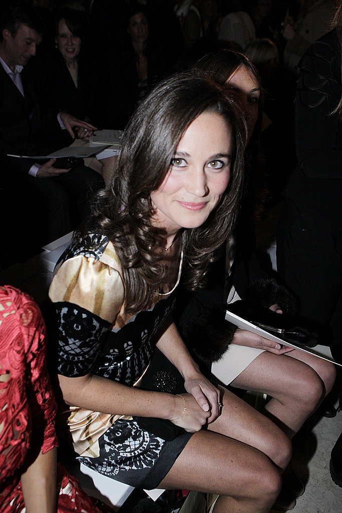 Pippa Middleton wore a minidress to the show.
