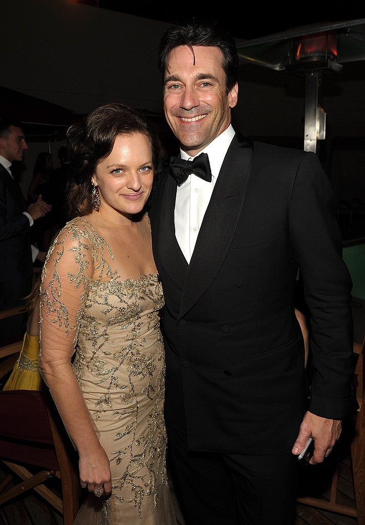 Jon Hamm and Elisabeth Moss at the Emmys bash.