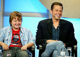 Sitting next to Jon Cryer during the Summer CBS Television Critics Press Tour in July 2005.