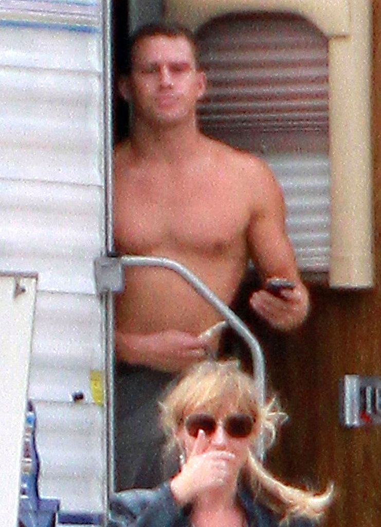 Channing went shirtless on the set of Magic Mike.