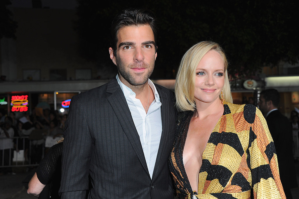 Zachary Quinto and Marley Shelton at the LA premiere of What's Your Number.