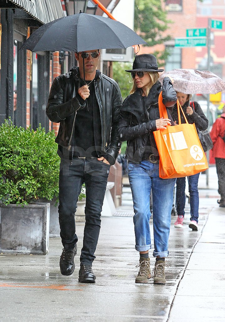 Jennifer Aniston and Justin Theroux shopping in NYC.