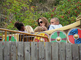 Angelina Jolie on a ride with Zahara, and Knox.