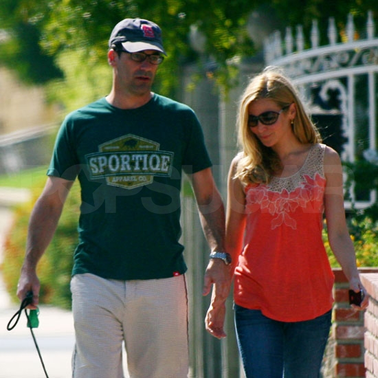 Jon Hamm and Jennifer Westfeldt in LA.