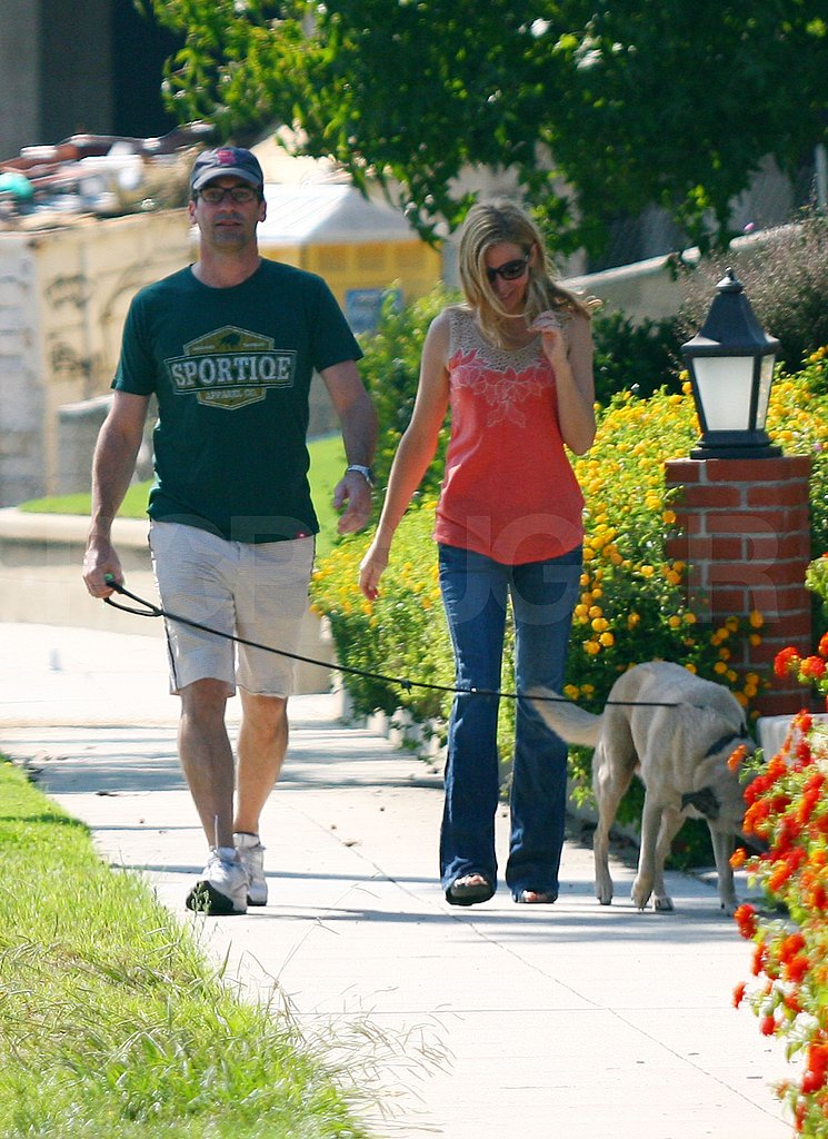 Jon Hamm and Jennifer Westfeldt hang out in LA.