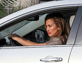 Jennifer Lopez made some funny faces as they filmed.