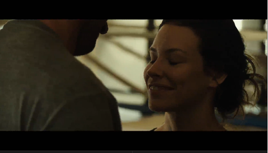 Exclusive — Hugh Jackman and Evangeline Lilly Show Off Their Chemistry in New Real Steel Clip!