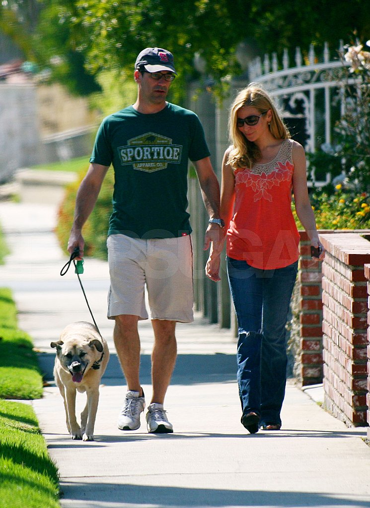 Jon Hamm and Jennifer Westfeldt together.
