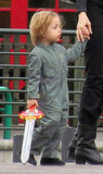 Knox Jolie-Pitt with a sword.
