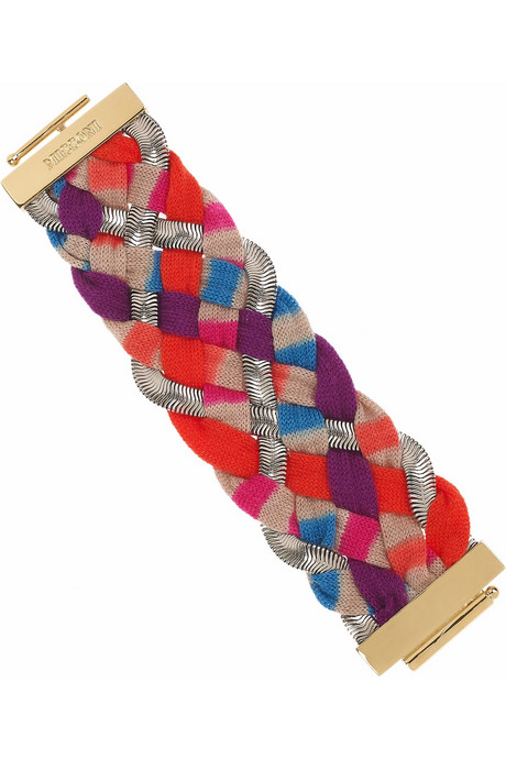 Missoni Woven-Knit and Chain Bracelet ($600)