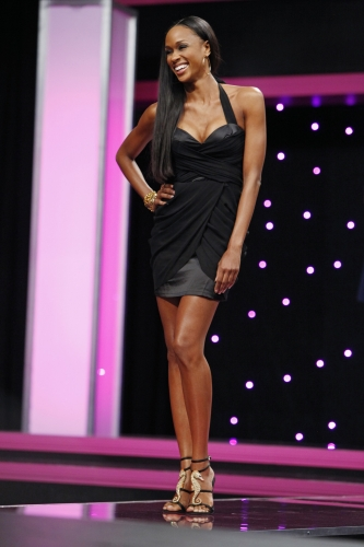 The judges accused Camille of looking like a pageant queen and forced her to switch up her pose on the catwalk.  Photo courtesy of The CW