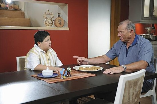 Ed O'Neill as Jay and Rico Rodriguez as Manny on Modern Family.  Photo copyright 2011 ABC, Inc.