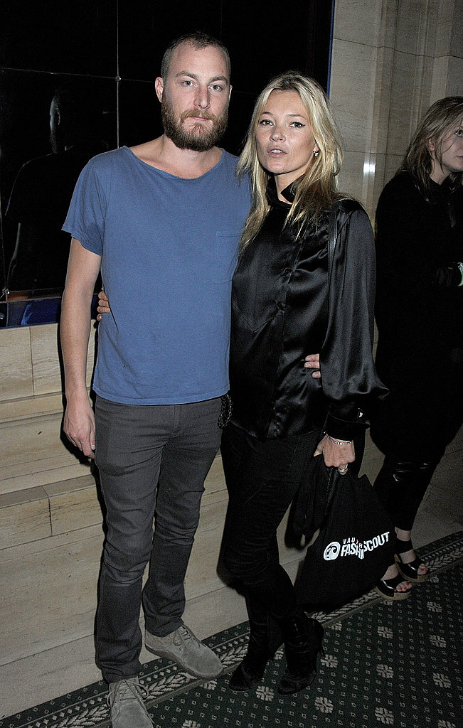 Kate Moss and designer James Small.
