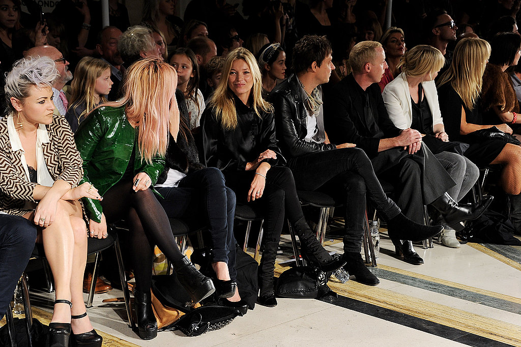 Kate Moss and husband Jamie Hince see James Small's show.