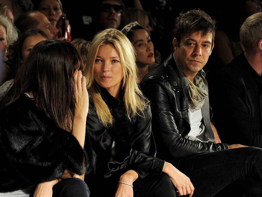 Kate Moss and husband Jamie Hince during London Fashion Week.