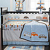 Modern Transportation Crib Bedding Sets