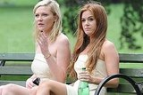 Kirsten Dunst and Isla Fisher took a seat.