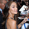 Minka Kelly at David Letterman in NYC Pictures