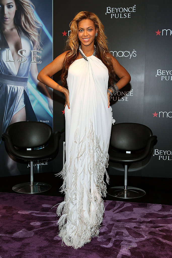 Beyoncé Knowles at a fragrance launch.