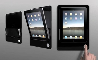 Put an iPad in Your Wall With the Bracketron Motorized Wall Mount