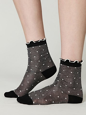 Free People Mesh Dot Ankle Sock ($14)