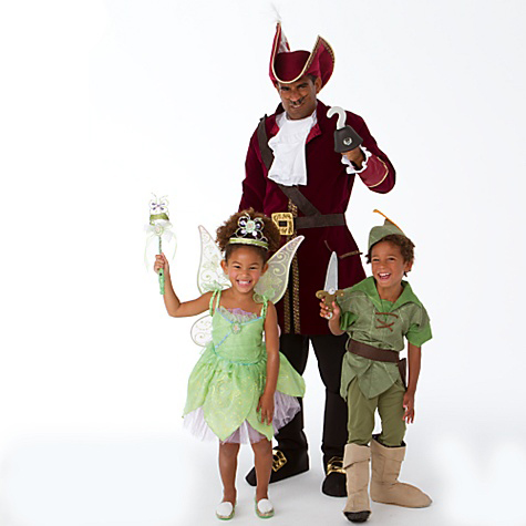 Tinkerbell, Peter Pan, and Captain Hook
