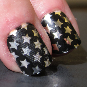 Easy, Cheap Metallic Star Nail Art